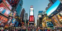 Веб-камера Большие рекламы на Таймс Сквер