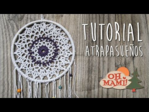 Cómo hacer un atrapasueños ganchillo | Crochet dreamcatcher - YouTube