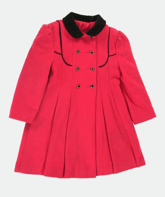 Girls vintage princess coat. Age 67 by PeachandLoveVintage on Etsy, £45.00