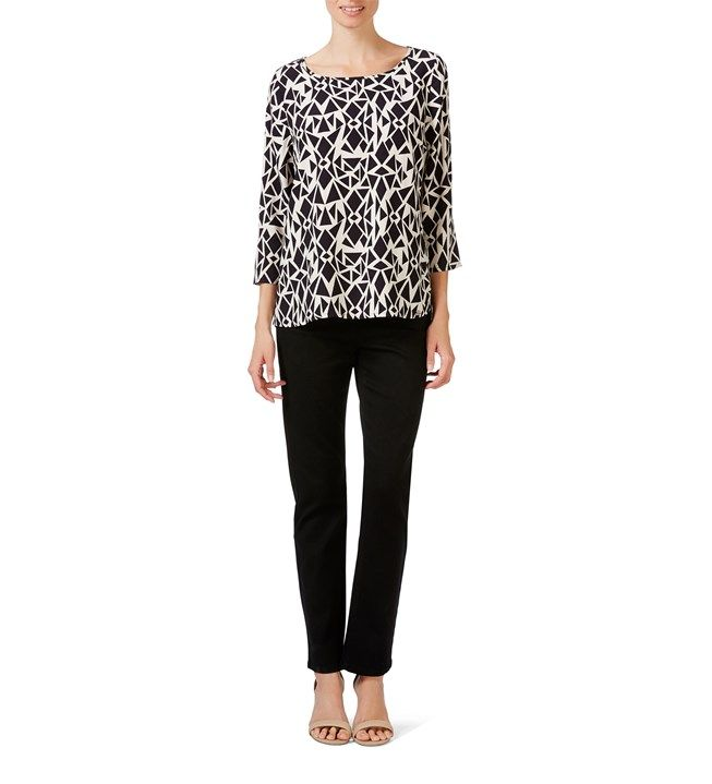 W.Lane Diamond Print Blouse