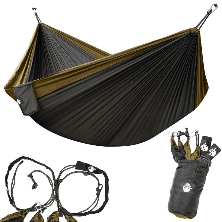Legit Camping - Double Hammock - Lightweight Parachute Portable Hammocks for Hiking  >>> Details can be found by clicking on the image.