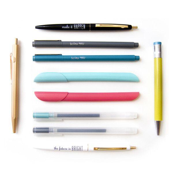 rose gold pen, positive pens, le pen, clipen, muji pens, xonex