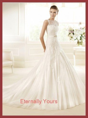 287.59$  Watch now - http://vicll.justgood.pw/vig/item.php?t=7ireyrv3716 - A-Line Scoop Chapel Train Tulle Vintage Wedding Dress