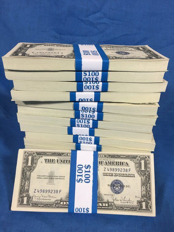 UNCIRCULATED SILVER CERTIFICATES Old One Dollar Bi…