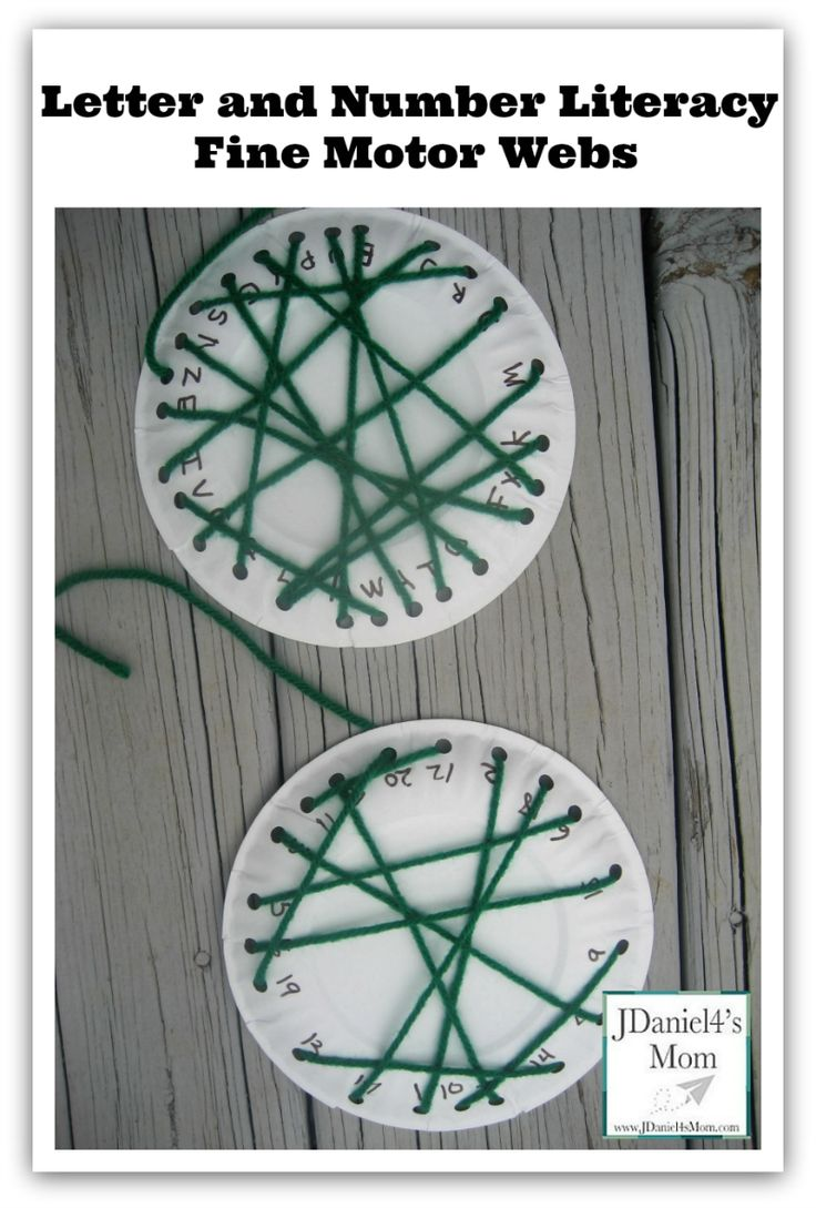 Letter and Number Literacy- Fine Motor Webs