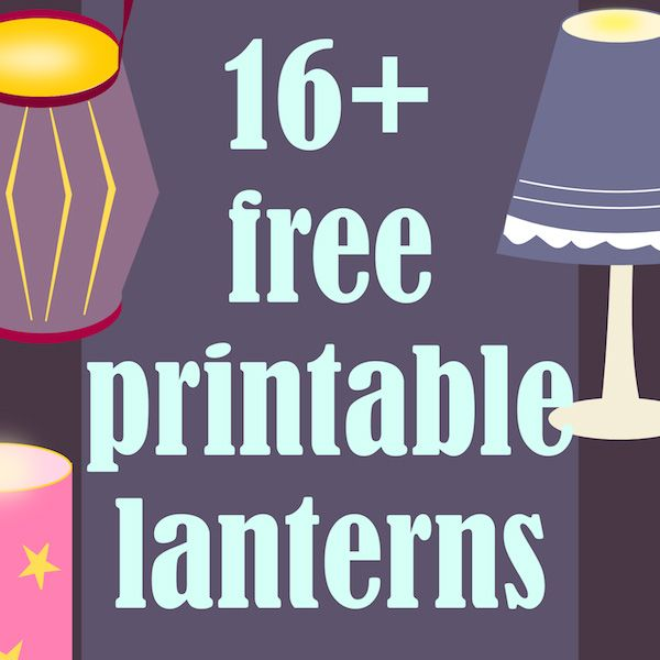 FREE printable lanterns, luminaries, lampshades and candleholders ^^ - for cosy fall and winter DIY decoration