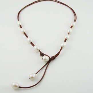 Fine Pearls and Leather Jewelry