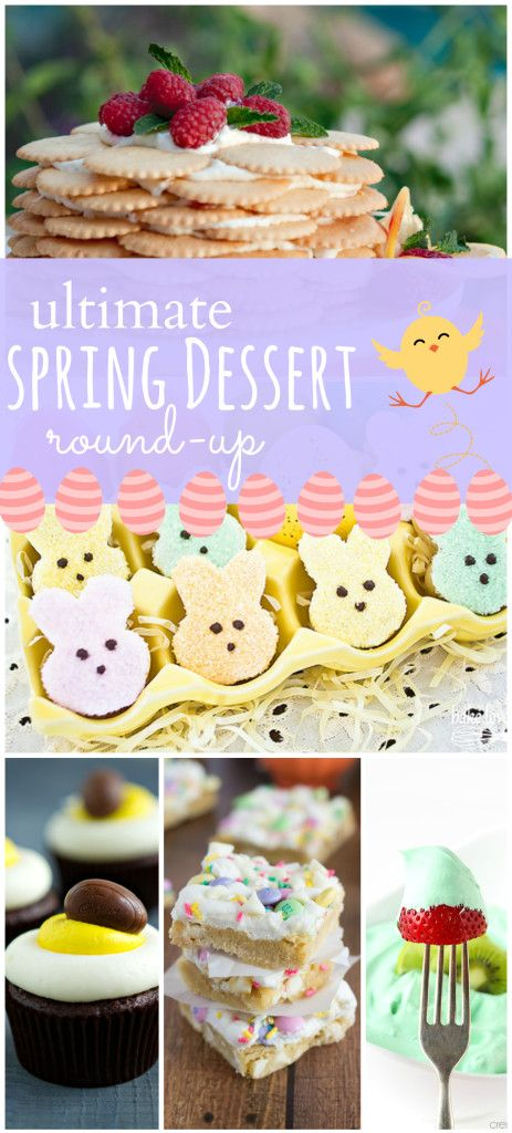Round-up of 50+ Spring and Easter Desserts   – Easter