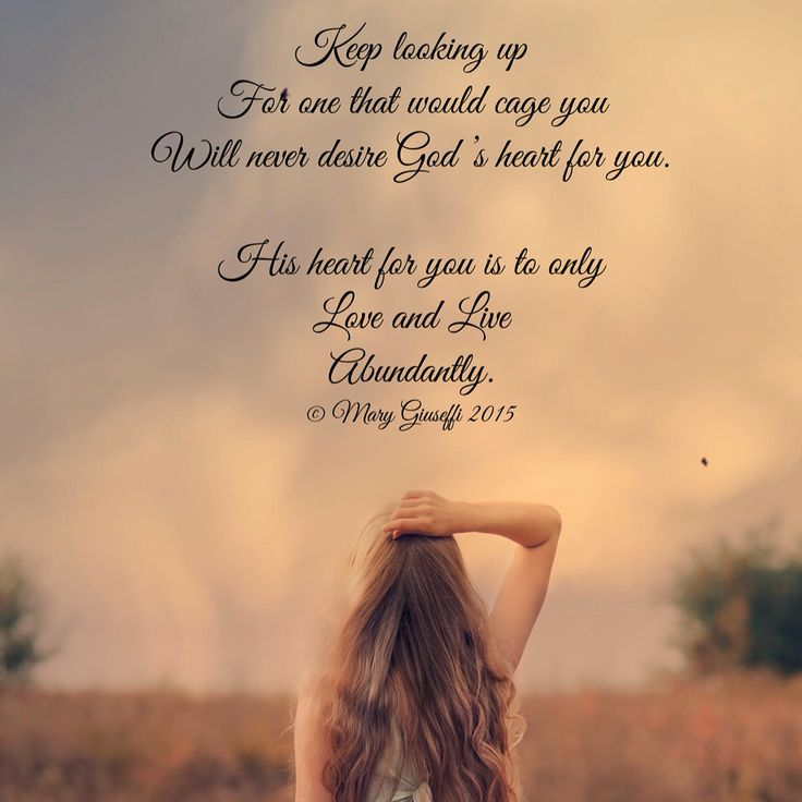 Keep looking up, A poem and Gods love on Pinterest