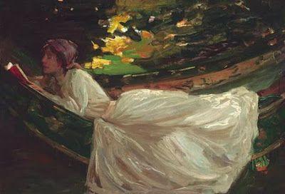 """Άννα Αγγελοπούλου: Γυναίκες που διαβάζουν. Πίνακες του John Lavery και """"Τα βιβλία"""" του Κώστα Ουράνη"""