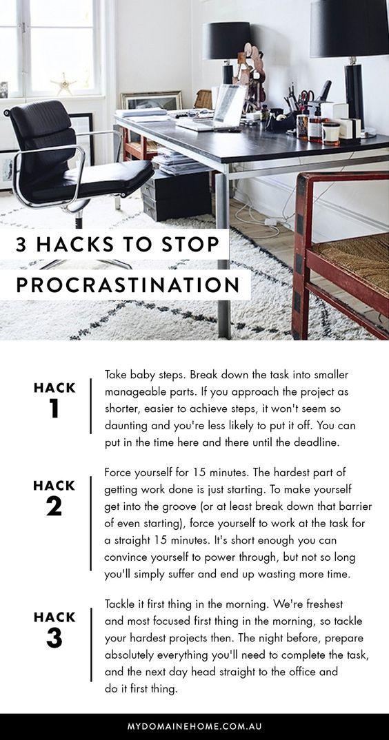 3 Hacks To Stop Procrastination At Work
