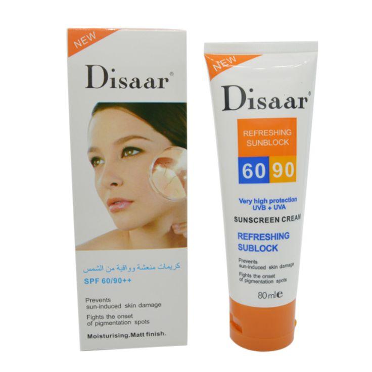 Disaar zonnebrandcrème SPF 50 + + hydraterende huid beschermen sunblock 80g gezichtsverzorging voorkomt huid schade verwijderen pigmention vlekken