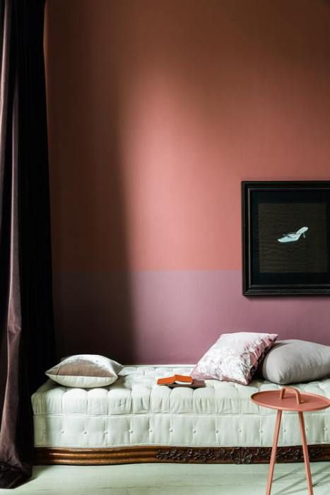 Two tone bedroom wall