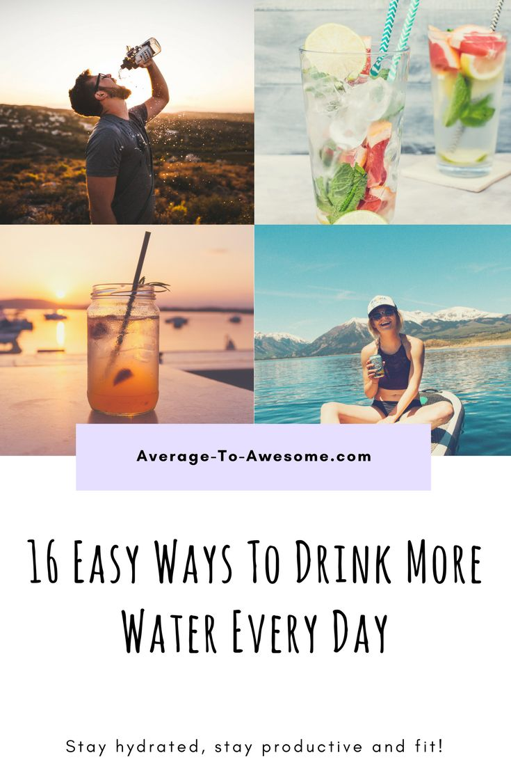 If you want to look better, feel better, become more productive and lower your chances of different types of cancer, drinking enough water might be just the way to do it!  But: how much is 'enough'? And are there any easy ways to drink more water every day? YES! This list of 16 tricks will help you drink all the water you need and make you feel SO MUCH BETTER. Try it now!