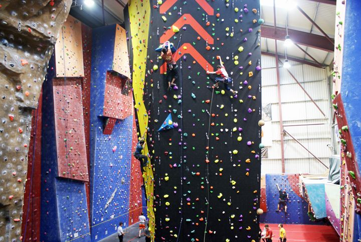 Now that's what I call an extreme indoor climbing wall