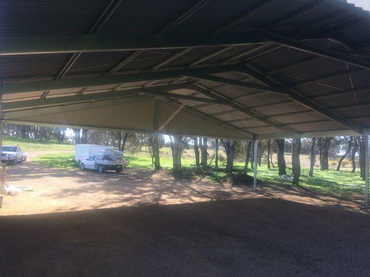 Ultraspan carport sheeted for SB Smash Repair. Kieren Lee Plumbing & Construction 0428690696