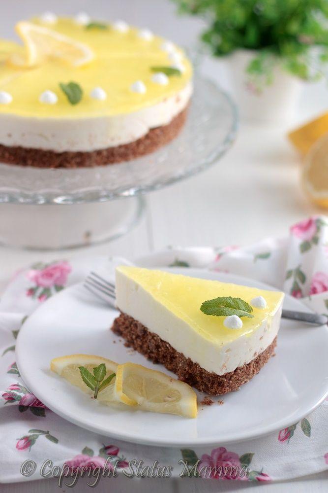 torta fredda allo yogurt cheesecake al limone ricetta dolce al cucchiaio con yogurt senca coloranti o colla di pesce ricetta italiana facile e cremosa con miele