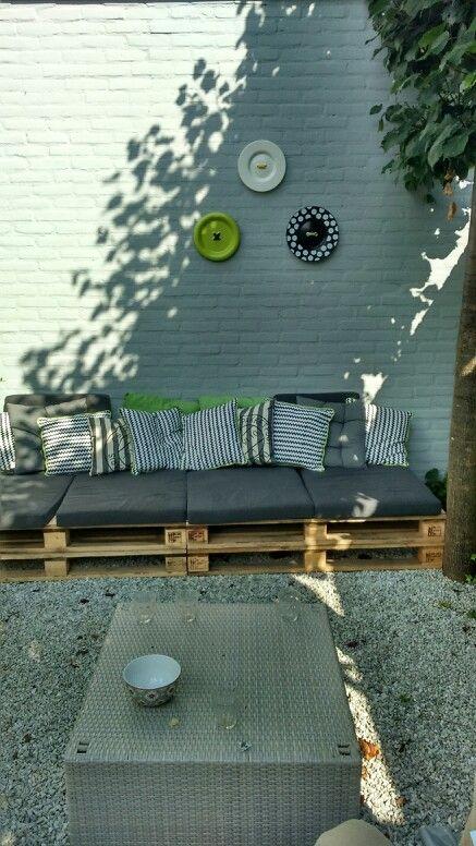 Mijn zelfgemaakte loungehoek!