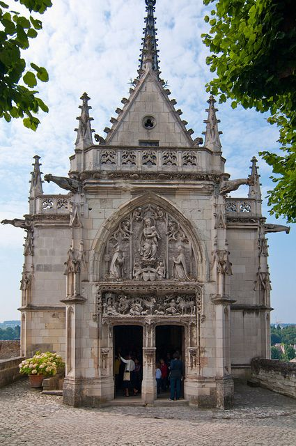 Chapel of Saint-Hubert where Leonardo da Vinci is buried, Chateau d'Amboise