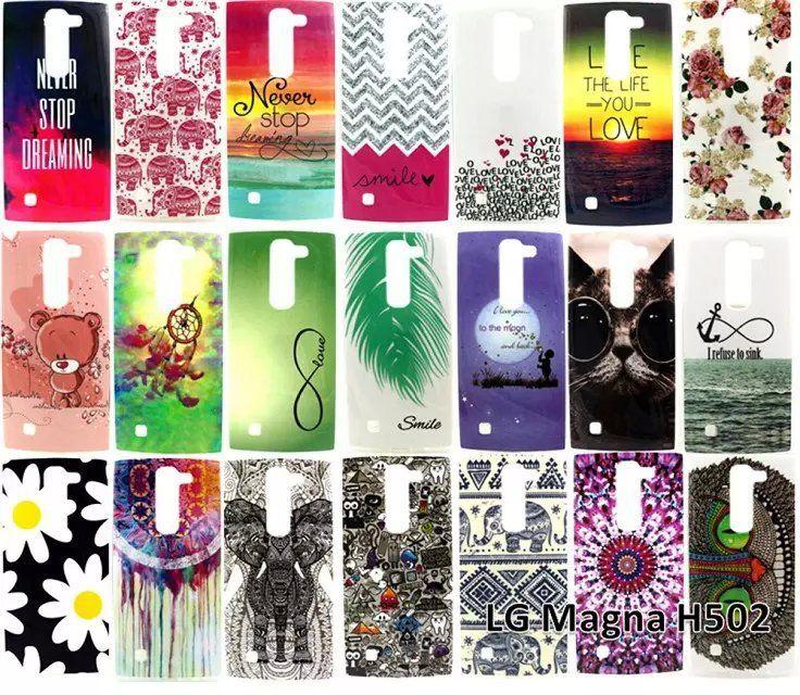 Pour LG Magna G4 Mini C90 H520N H502F H500F Ultra Mince Gel Cartoon Quatrième De Couverture Hibou Chat Ours Éléphant Flower Soft TPU De Silicium Cas