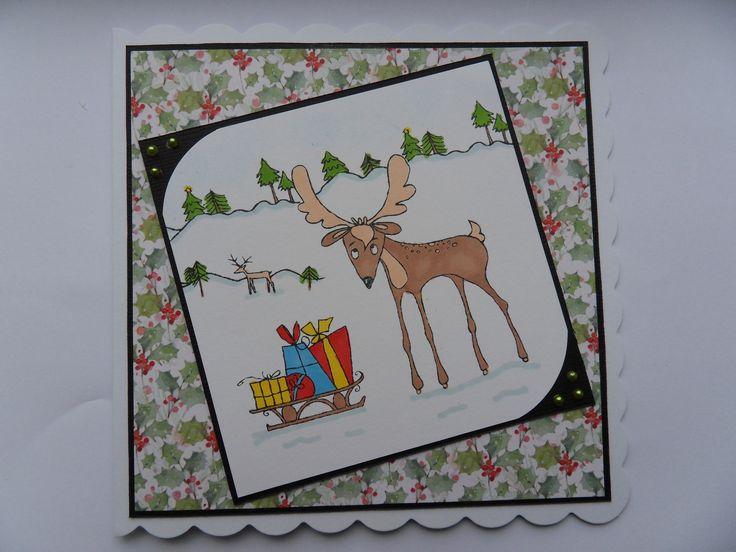 Rentierkarte von Hannah Brooke mit Hobby Art Stamps – Hobby Art