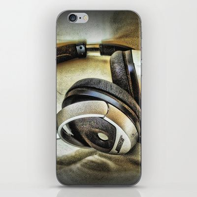 Headphones iPhone & iPod Skin by AngelEowyn - $15.00