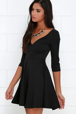 Black Skater Dress. I would pretty much live in this.
