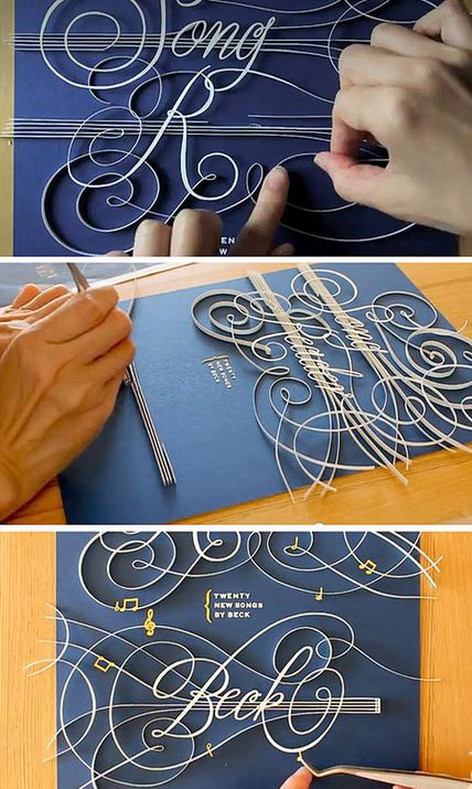 {Typeface Tuesday} Unbelievable Quilled Paper Typography... watch the video!