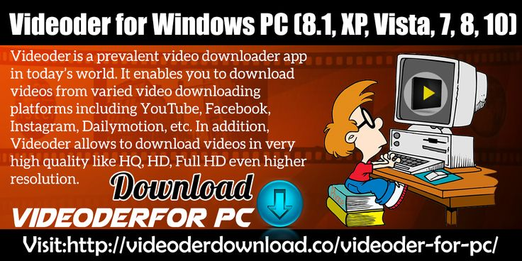 Videoderis a prevalent video downloader app in today's world. It enables you to download videos from varied video downloading platforms including YouTube, Facebook, Instagram, Dailymotion, etc. In addition, Videoder allows to download videos in very high quality like HQ, HD, Full HD even higher resolution.  Website Link : http://videoderdownload.co/videoder-for-pc/