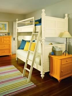 I like the bright yellow and jewel toned aqua for unisex for Childrens unisex bedroom ideas