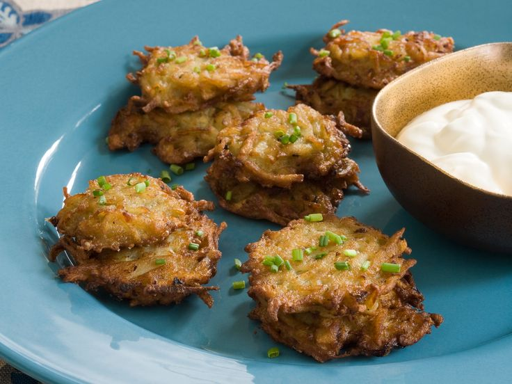Potato Latkes from FoodNetwork.com  Making these with the kiddos at work for Hannukah!