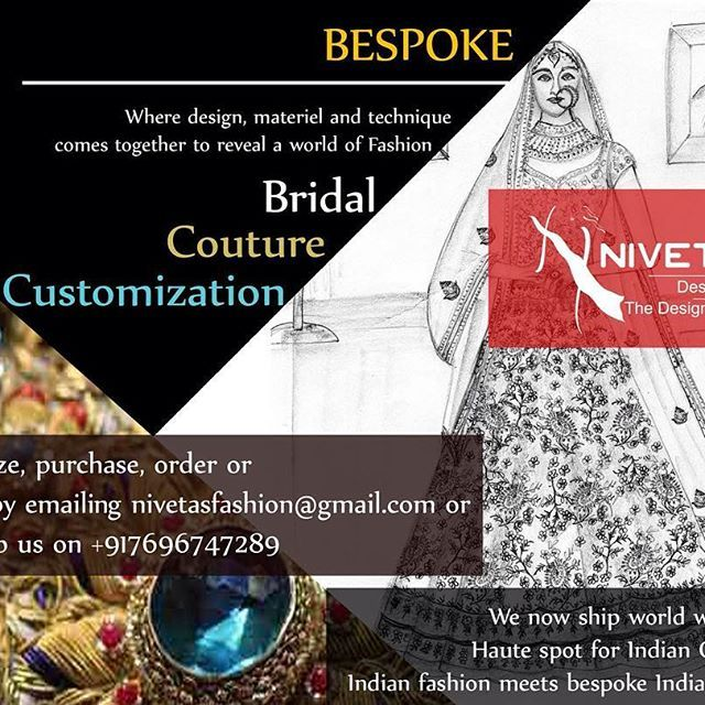 CUSTOM MADE OUTFITS  To place place order and for more query  whatsapp +917696747289 email : nivetasfashion@gmail.com Like us at Facebook! :)