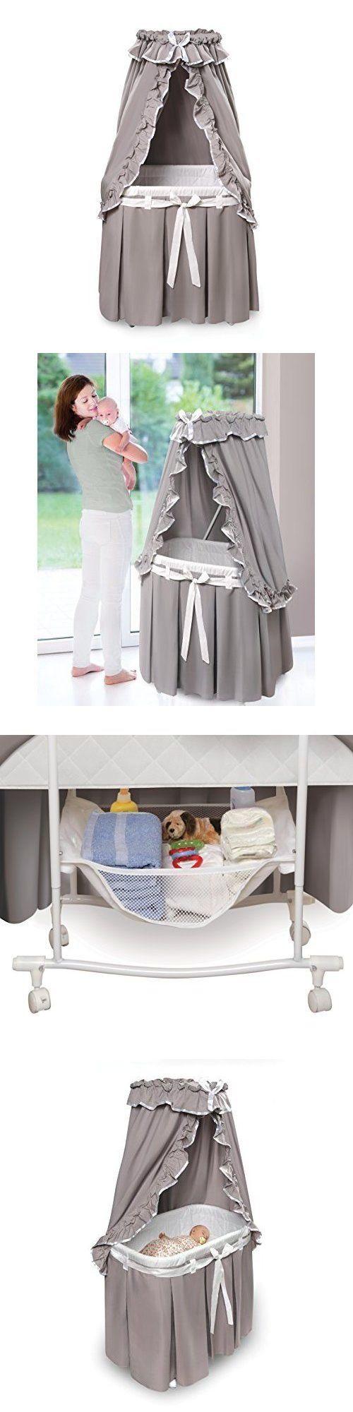 Baby bed ebay india - Baby Nursery Infant Newborn Baby Bassinet Crib Bed Canopy Modern Bedding Nursery Gray White