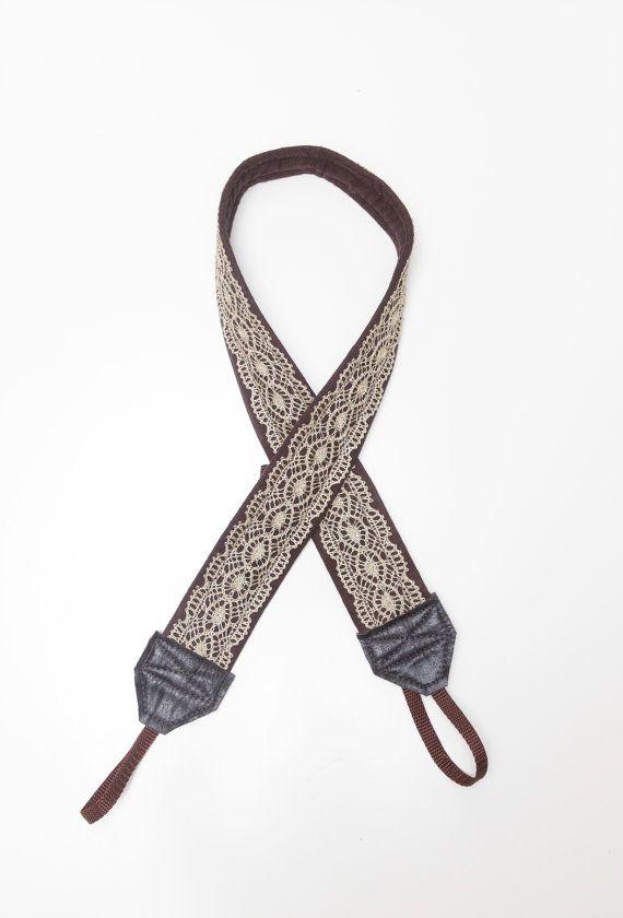 gold lace camera strap by ewelinapolandastraps on Etsy