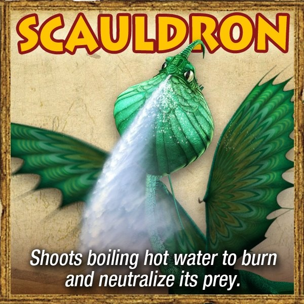 If you want to train a Scauldron, the best way to start is simply to cover yourself in water. Scauldrons are sentimental creatures who love anything that reminds them of home.