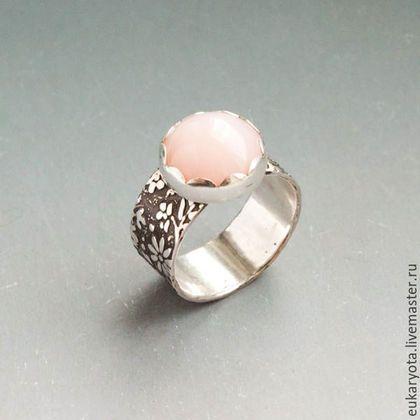 Кольца ручной работы. Ярмарка Мастеров - ручная работа. Купить Кольцо из серебра с розовым опалом Сон балерины. Handmade.