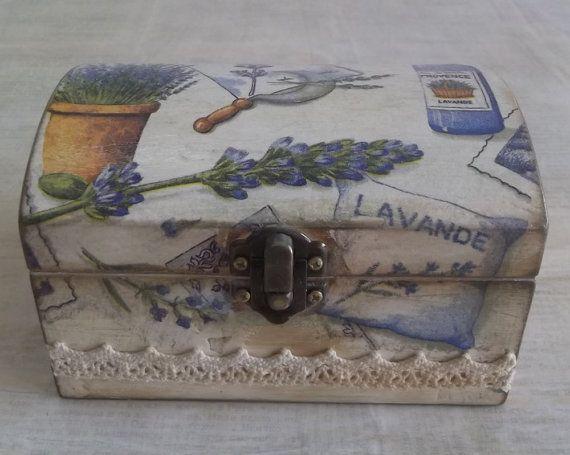 Wooden Box   / Storage Vintage Decoupage Box by AtelierValshebstvo
