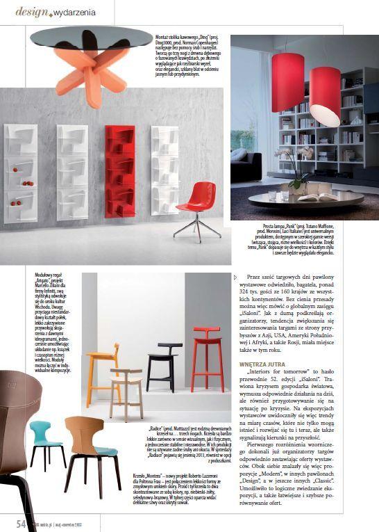 Pank collection design Tiziano Maffione on BIZNES magazine 06/2013