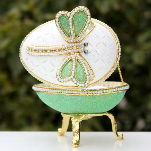 Dragonfly Jewelry Box | ... green dragonfly jewelry box music box music box birthday lovers gift