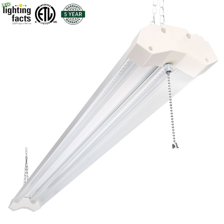 hykolity utility led shop light 4ft 40 watt lumen 4000k neutral white led garage lights