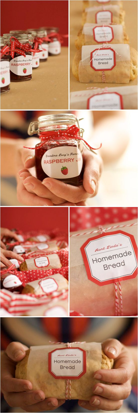 DIY Favors: Homemade Bread and Jam  LOVE this gift idea!!!