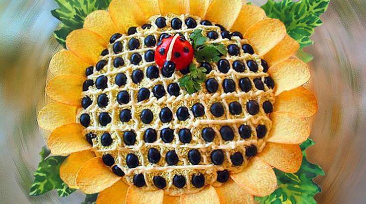 """Salată """"Floarea soarelui"""". Surprindeți-vă oaspeții cu o gustare spectaculoasă! - Bucatarul"""