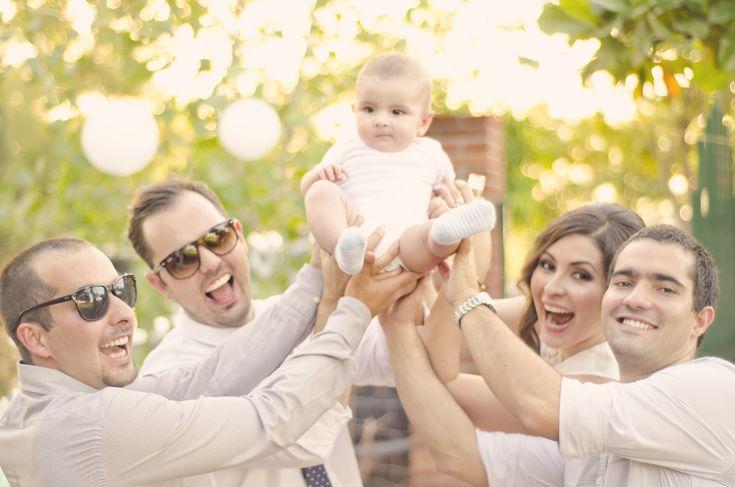 Ideas para foto con papás y padrinos/Bautizo