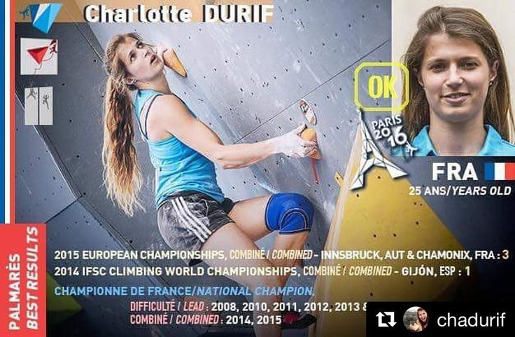 Charlotte a confirmé sa participation aux #championnat du #monde à #Bercy en septembre. Can't wait  #Repost @chadurif  Yes!!! so excited   More than a big happening in my career the @world_climbing_2016 will be the best climbing event of the year if not more!  If you have the opportunity to compete or watch it do not hesitate! It's gonna be hugely awesome   #Climbing #escalade #worldchampion #rockclimbing #climbingshoes #guardian #eb #ebclimbing #athlete #french #girl #proud #outdoor