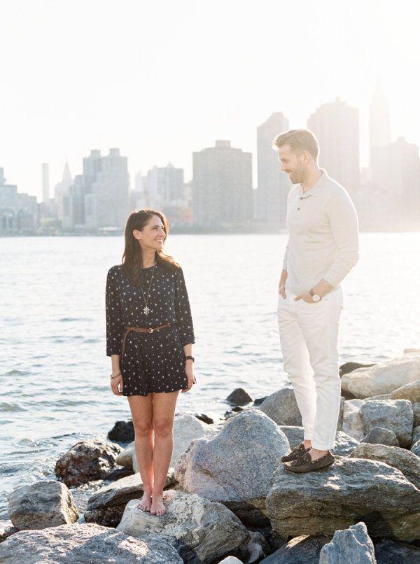 Romantic Long Island City Engagement Session – Style Me Pretty