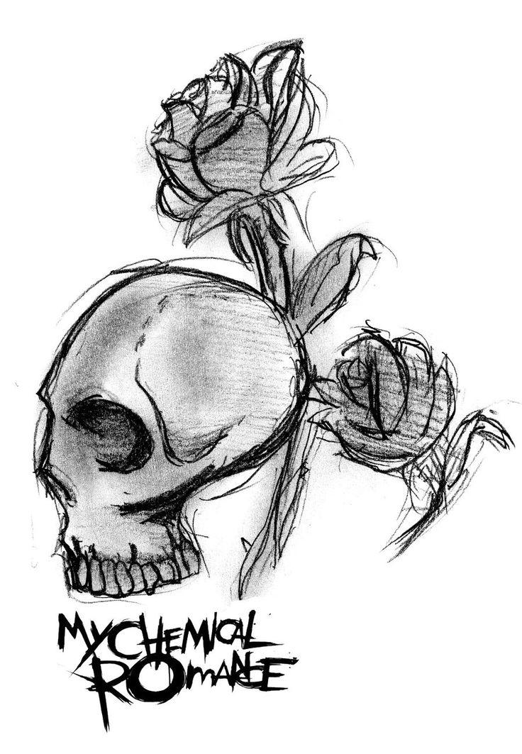 My Chemical Romance Skull Logo by MySicknessRomance.deviantart.com on @deviantART