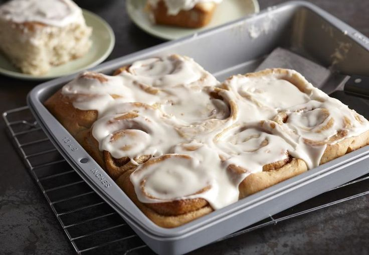 I found this recipe for Beginners Frosted Cinnamon Rolls, on Breadworld.com. You've got to check it out!