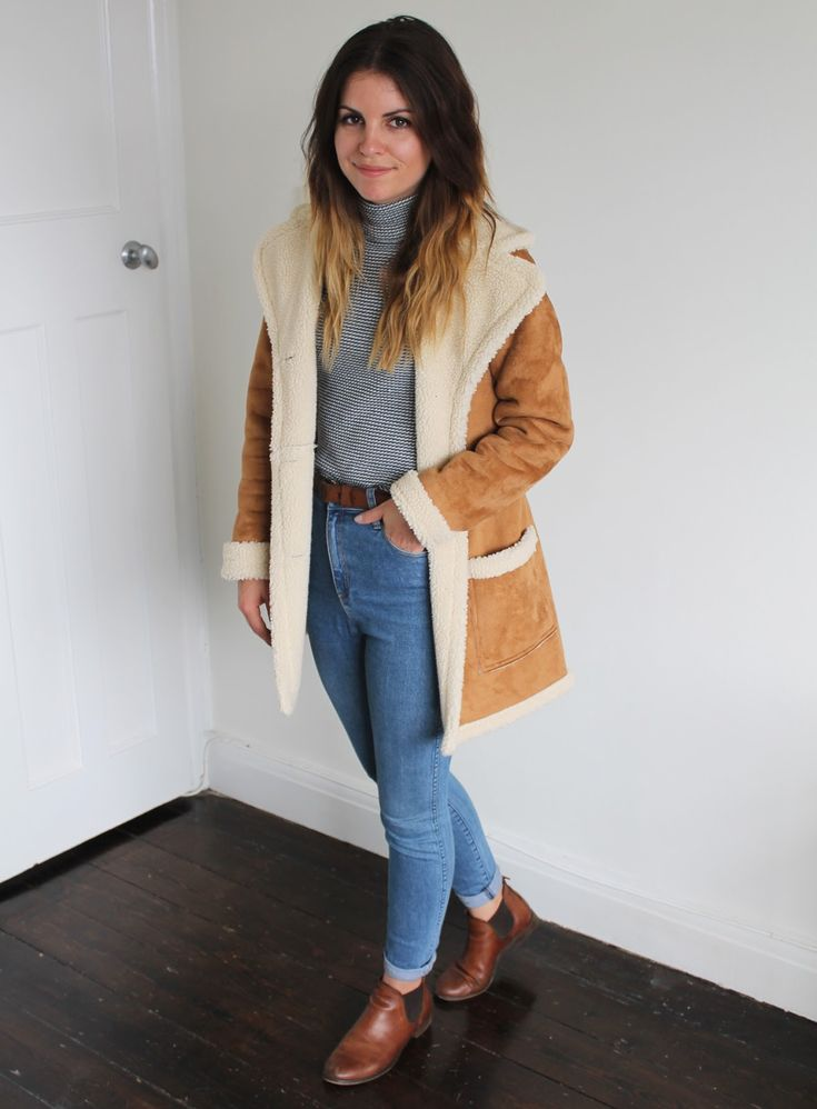 Sweet Monday outfit, Ark Clothing suedette coat