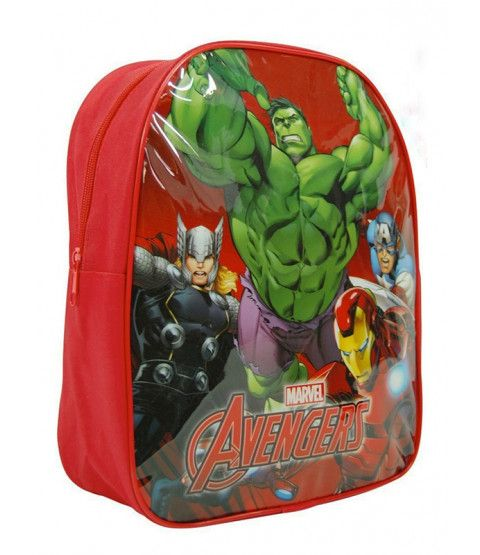 This Marvel Avengers Large Backpack features The Hulk, Captain America, Iron Man and Thor. Ideal for school, days out or nights away. Free UK delivery available.