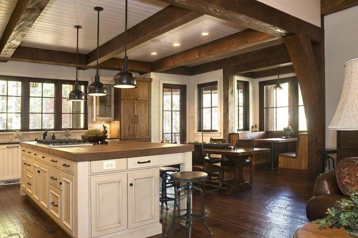 Rustic Lakehouse Kitchen Other Metro Wright Design